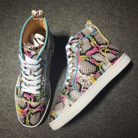 Cl Christian Louboutin Python Style #2280 Sneakers Fashion Shoes