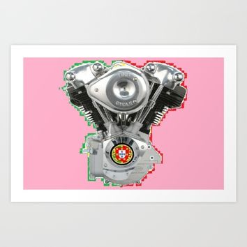 Portuguese Hot Pink Knuckles. Art Print by Tony Silveira