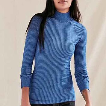 Vintage Blue Swedish Ribbed Tunic Top - Urban Outfitters
