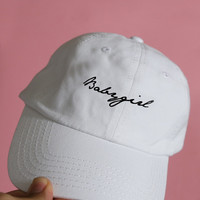 baby girl white baseball cap
