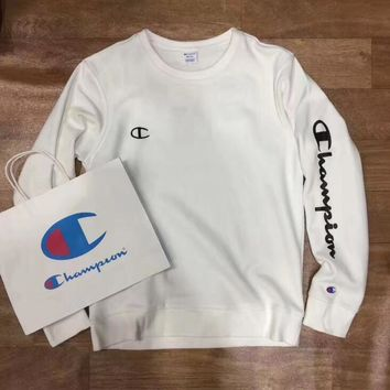 Champion round collar hoodie lovers and men's and women's leisure cotton long-sleeved t-shirts top One-nice™