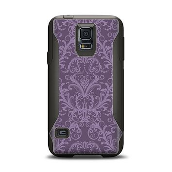 The Dark Purple Delicate Pattern Samsung Galaxy S5 Otterbox Commuter Case Skin Set