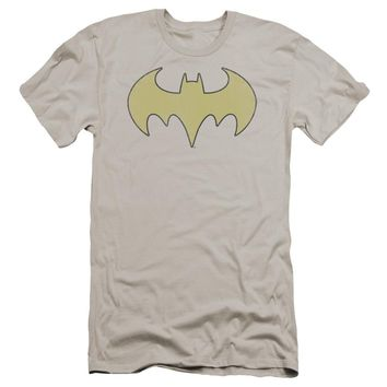 Dc - Batgirl Logo Distressed Premium Canvas Adult Slim Fit 30/1 Shirt Officially Licensed T-Shirt
