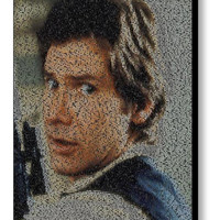 Star Wars font Han Solo Quotes Mosaic INCREDIBLE