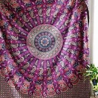 Indian Mandala Hippie Tapestry Wall Hanging Bedding Bedspread Ethnic Throw Art