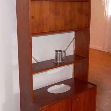 Mid Century Norwegian Teak Wall Unit