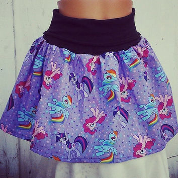My Littly Pony Skirt shirt S-XL MLP RAinbow Dash Pinkie Pie Twilight Sparkle