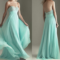 strapless prom dress, long prom dress,  juniors formal dresses,RE095