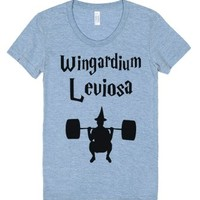 Wingardium Leviosa-Unisex Athletic Blue T-Shirt