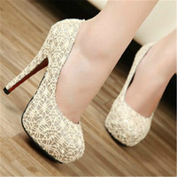 New Arrival Women's Red Bottom High Heels Pumps Ultra Platform White Lace Women Wedding Shoes Beaded Bride Bridesmaid Dress Shoe
