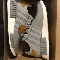 Adidas NMD R1 BY2492 Craftsman Mastercraft Grey Tan Mens US SZ 8 Boost