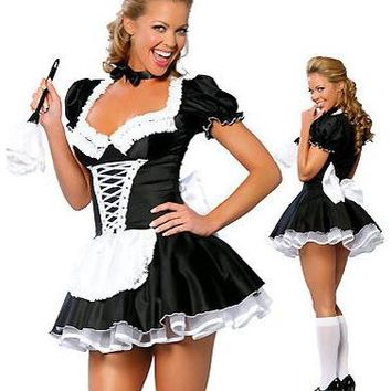 French Maid Costume  Exotic Servant Cosplay Dress