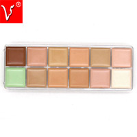 Naked Makeup Concealer Palette 12 Color Professional For Face Primer Make Up Base Brand MC Concealers Cream Contouring Palette