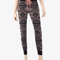 Miss Chievous Grey & Black Aztec Print Jogger Pants – Juniors | Stage Stores