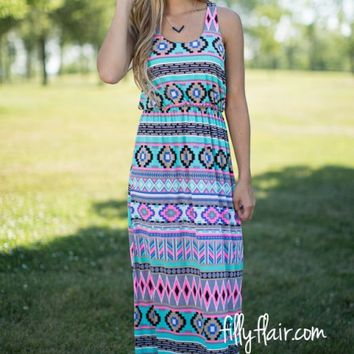 Leader of the Pack Tribal Maxi Dress