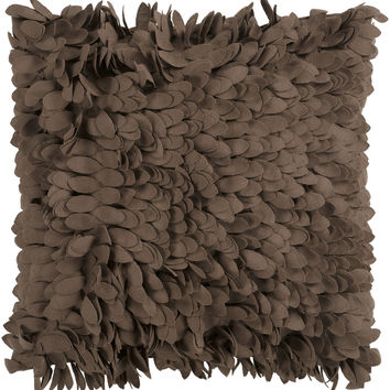 Surya Claire Throw Pillow Brown