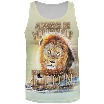 Always Be Yourself Unless Lion All Over Mens Tank Top