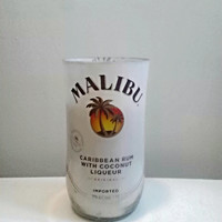 Malibu Rum Bottle Beautiful 100% Natural Soy Candle
