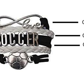 Custom Infinity Soccer Bracelet- Make Your Own Bracelet