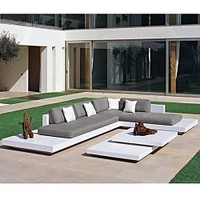 Rausch Platform Sectional Outdoor Sofa at HomeInfatuation.com.