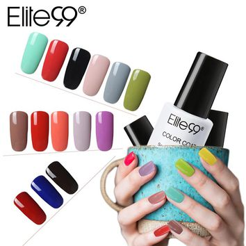 Elite99 7ml One Step Nail Gel Polish Soak Off UV Gel Varnishes Convenient 3 In 1 Gel-Lacquer No Need Top Base Coat Lacquer