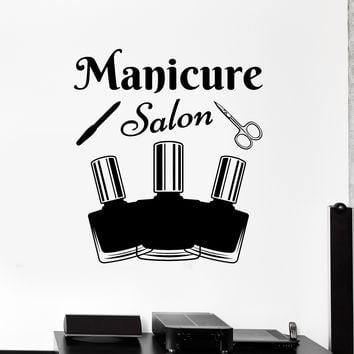 Vinyl Wall Decal Manicure Tools Salon Nail Polish Beauty Stickers Unique Gift (ig4707)