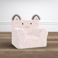 Pink Plush Faux Fur Cat My First Anywhere Chair®