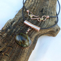 Cherry Quartz Crystal Necklace, Quartz and Copper Necklace, Quartz Necklace, Copper Necklace, Quartz Pendant, ColeTaylorDesigns