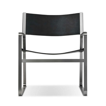 Hans Wegner Stainless Steel Lounge Chair CH112