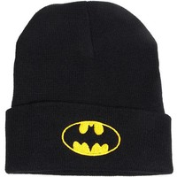 Fashion Embroidery Batman Knit Hat S Cap Hat Outdoor Sports Hat Hip Hop Men Winter Hat for women