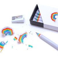 5PCS Simple Rainbow Pencil  Gift / School Stationery