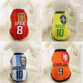 Pet Dog Clothes for Small Dogs Spring Summer Clothes Chihuahua Puppy Clothing T-shirt Vest XS-XXL