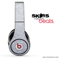 Silver Glitter Ultra Metallic Skin for the Beats by Dre Studio, Solo, MIXR, Pro or Wireless Version Headphones