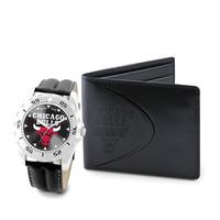 Chicago Bulls NBA Men's Watch & Wallet Set