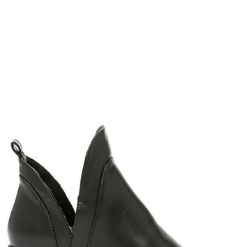 Change of Plans Black Cutout Ankle Boots