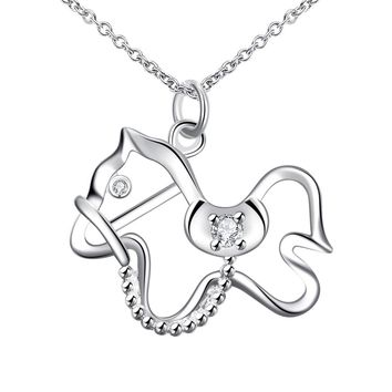 Fashion Jewelry Horse Pendant Necklace for Women