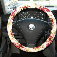 Burgandy Rose Steering Wheel Cover by mammajane on Etsy