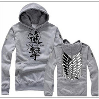 Attack On Titan Cosplay Survey Corps Cotton Hoodie Jacket
