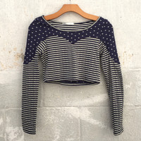 Stars and Stripes Crop Top - Blue