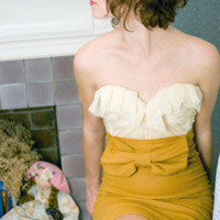 Sarah Seven | Fashion Designer ? Mustard Beau Skirt and Tea Top
