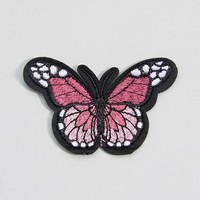 DesignB London Embroidered Iron On Butterfly Patch at asos.com
