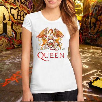 Queen Band logo T Shirt Printed T Shirt, Women T Shirt, (Various Color Available)