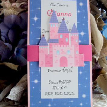 Princess Birthday Invtiation, Childrens Birthday Invitation, Princess Birhtday, Princess invitation