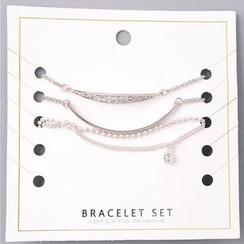 Collective Dainty Bracelet Set