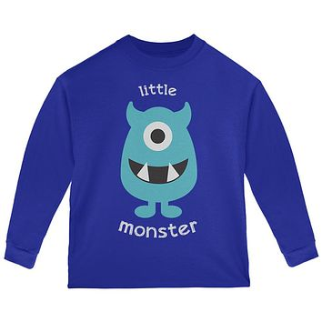 Halloween Little Monster Toddler Long Sleeve T Shirt