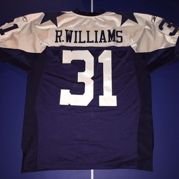 NFL DALLAS COWBOYS ROY WILLIAMS AUTHENTIC REEBOK THANKSGIVING JERSEY SIZE 48