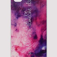 Pink and Purple Water Brush Print I-Phone 4/4S Case