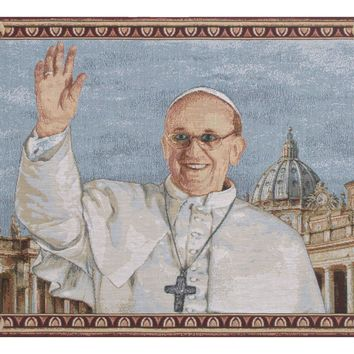 Pope Francis Tapestry Wall Hanging
