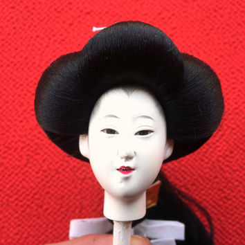 Japanese Doll Head - Woman - Hina Doll Head - Hina Ningyo - D4-47 - Porcelain Doll Head