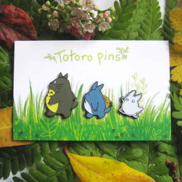 Studio Ghibli, My Neighbour Totoro, 3 Enamel Pin Set